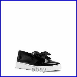 $225 Michael Kors Womens Val Slip On Sneakers Shoes Black 7.5 NEW IN BOX
