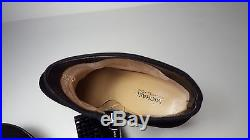 $225 size 7 Michael Kors Arabella Booties Black Leather Heels Womens Ankle Shoes