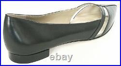 $325 Michael Kors Women's Jodi Leather Flat Shoes Black US 7.5 EU 37.5