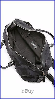 $650 Michael Kors Black Jet Set Duffel Shoe Compartment Travel Weekender Gym Bag
