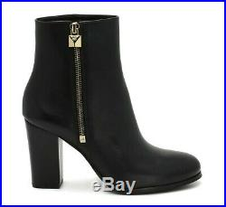 9m Michael Kors Frenchie Bootie Black Leather Women's Ankle Boots Shoes
