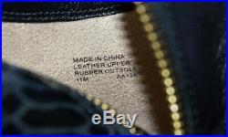 B6 NEW MICHAEL KORS Black Leather Snakeskin Hi Heel Ankle Boot Shoes Sz 11 $279