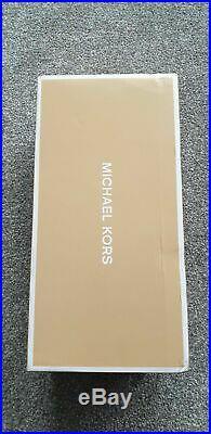 BNIB MICHAEL KORS RED Fulton Moc Logo Flat Slip On Ballet PUMP Shoe UK 3.5, 36.5