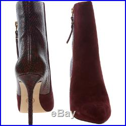 BNIB Michael Kors Dawson Suede Reptile Boots Plum EU 42.5 UK 9 RRP £295