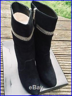 Beautiful Michael Kors Black Suede Ankle Boots Uk Size 7