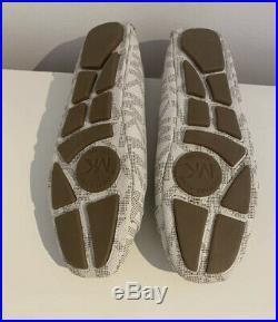 Brand New Michael Kors Lillie Logo Moccasin Flats Shoes UK 6 US 8 Fulton Moc