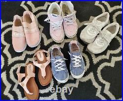 Girls Shoes Sandals LOT Size 13, 1 & 2 Kids Summer Michael Kors BeBe Nike VANS