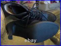 KORS MICHAEL KORS Black Nubuck Suede BOOTIE BOOTS SHOES Heels US 6.5 NWOB