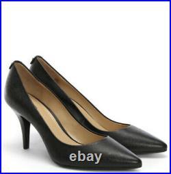 Ladies Designer Michael Kors Black Leather Pumps/heel Shoes Size UK 5