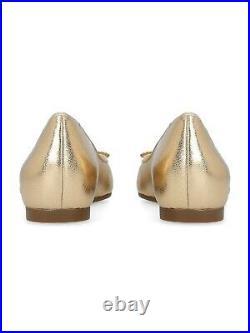 Ladies Womens Michael Kors Ballet Gold Metallic Ballet Pumps shoes. Size 6 / 39