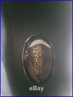 Ladies black, white and gold Michael Kors trainers size 4