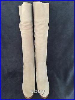 MICHAEL KORS 40F5REMB5S Regina Platform Dark Khaki Suede Boots Shoes US 8.5 NWB
