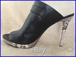 MICHAEL KORS 40T5ISHP2L Isabella Mule Leather Shoes Pumps US 8.5 EUR 38.5 NWB