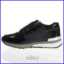 MICHAEL KORS ALLIE TRAINER Damen Schuhe Sneaker Schwarz Turnschuhe Lack Gr. 35