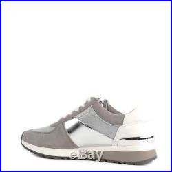 MICHAEL KORS Allie Silver and Pearl Grey Trainer UK 5 EU 38 JS091 AJ 06