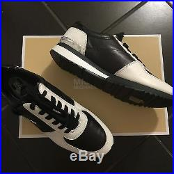 MICHAEL KORS Allie Wrap Leather Trainer Black/Optic White Leather Size 8 NEW