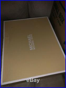 MICHAEL KORS BECKETT Trainer Gold/Wht METALLIC SNEAKERS 43s7bkfs4m Size 8.5