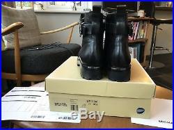 MICHAEL KORS Black Ankle Boots Ryder Leather 40T8RYFB5L Black Pelle Nere
