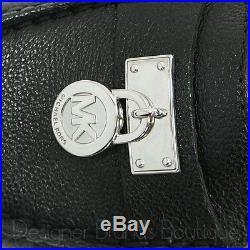 MICHAEL KORS Black Women's MK Hamilton Lock Leather Loafers Flats