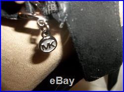 MICHAEL KORS FAYE WithGENUINE RABBIT FUR SANDALS/HEELS SZ 7M GOOD CONDITION