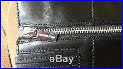 MICHAEL KORS'Fulton Harness' black leather boots, size UK 4 EU 37