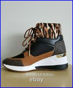 MICHAEL KORS LIV ICONIC WILD ANIMAL MK Logo Sneakers Booties US 7 I LOVE SHOES