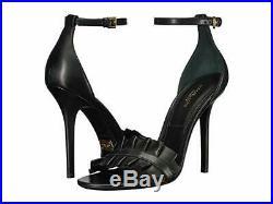 MICHAEL KORS Priscilla Black Ruffled Real Leather Sandals EUR 40 / UK 7 / US 9