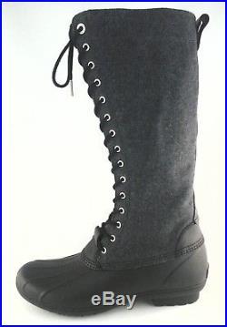 MICHAEL KORS RAINBOOTS Gray/Black Womens Flannel Tall Boots US 10 EU 41 $175