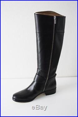 MICHAEL KORS STIEFEL Fulton BOOT schwarz black Leder Gr. 37 Reitstiefel