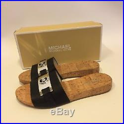 MICHAEL KORS Sandale mit Logo 37.5 / US 7 WARREN Slide / sandal NEU / NIB