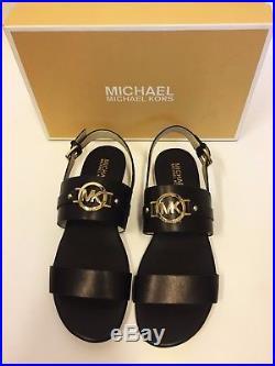 MICHAEL KORS Sandale mit Logo 39.5 / US9 MOLLY flat / sandal NEU / NIB