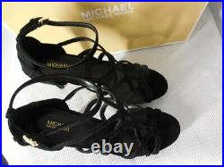 MICHAEL KORS Shoes Platform Sandals 11 black suede Stiletto heel SANDRA NEW