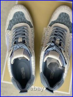 MICHAEL KORS Wilma Color-Block Logo and Mesh Trainer Sneakers shoes Blue US 8