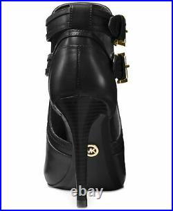 MICHAEL KORS Women's Shoe Heel Boots Blaze Open Toe Bootie Black Size 8 NIB