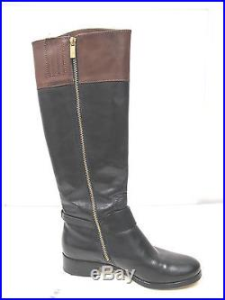 MICHAEL KORS Womens Black Brown Leather FULTON HARNESS Boot 8M Right, 7.5 Left