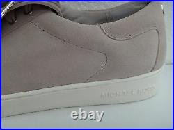 MICHAEL KORS Womens Flat Shoes City Sneakers Gray Genuine Suede Leather Size 11