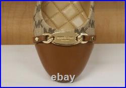 MICHAEL KORS mini LOGO JOYCE BALLET FLAT HERITAGE CANVAS Plate NEW Shoes