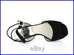 MICHAEL MICHAEL KORS 205209 black leather suede platform sandals sz. 7 M