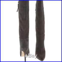 MICHAEL MICHAEL KORS Charcoal Suede Leather Dawson Boots size UK 5 / EU 38
