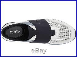 MICHAEL MICHAEL KORS MK Trainer Sneakers Shoes Optic/Blue Mult Sz