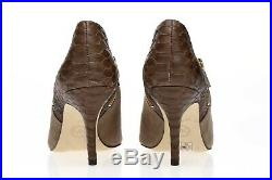 MICHAEL MICHAEL KORS Womens Taupe Snake Print Suede Ankle Booties Shoes Size 9 M