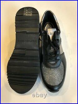 MICHAEL Michael Kors ALLIE Logo Metallic Mixed Media Trainer Sneakers Shoes SZ-9