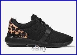 MICHAEL Michael Kors AMANDA Leopard Calf Hair and Mesh Sneakers Shoes US 6.5