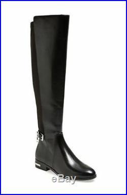 MICHAEL Michael Kors Aileen Riding Boots Black Leather US Size 6.5 M $295