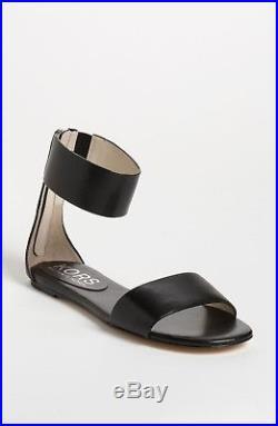 MICHAEL Michael Kors Ava Flat Sandal Women's US Sz 7 M Black & 10 M Luggage $250