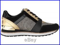 MICHAEL Michael Kors Billie Trainer Sneakers Women's Gold Casual Shoes Sport NIB
