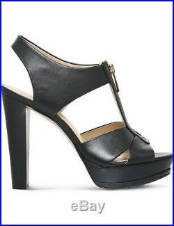 MICHAEL Michael Kors Bishop High Heel Platform Sandal Black/Gold 7 New in Box