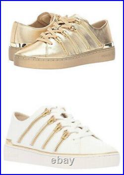 MICHAEL Michael Kors CHELSIE Zippers Leather Sneaker Shoes