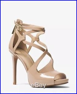 MICHAEL Michael Kors Catia Patent Leather Womens Sandal SZ 8.5 C. Toffee BZippe