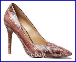 MICHAEL Michael Kors Claire Rose Snakeskin Pump Shoes Size 7 MSRP $185.00